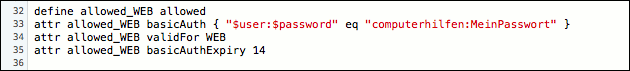 FHEM Passwort im iPhone speichern