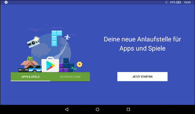 Google PlayStore für Fire Tablet installieren