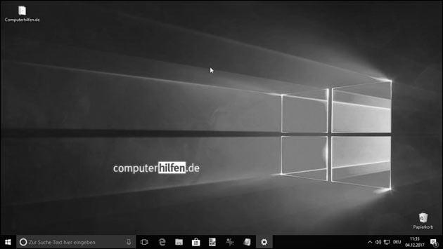 Windows Bildschirm plötzlich schwarz-weiß