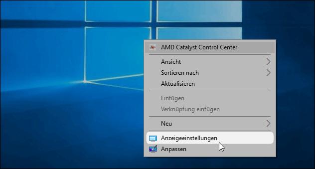 Windows Bildschirm-Einstellungen