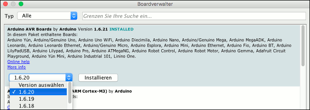 Arduino Boardverwalter