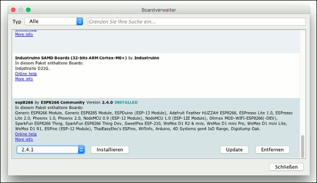 esp8266 mit Arduino programmieren