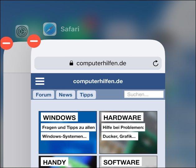iPhone X Apps beenden