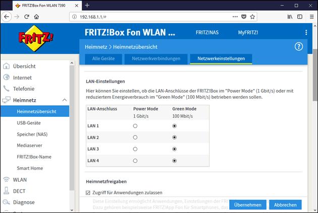 Fritzbox Gigabit