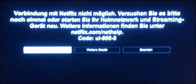 Netflix Error UI-800-3