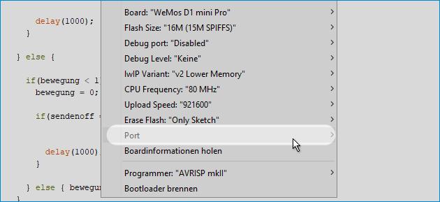 Das Board an COM1 ist nicht verfügbar