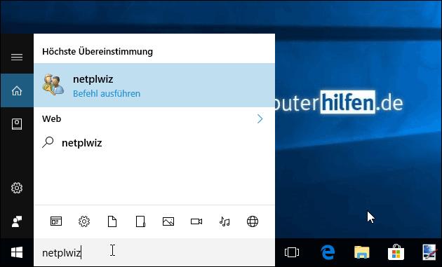 Windows automatische Anmeldung