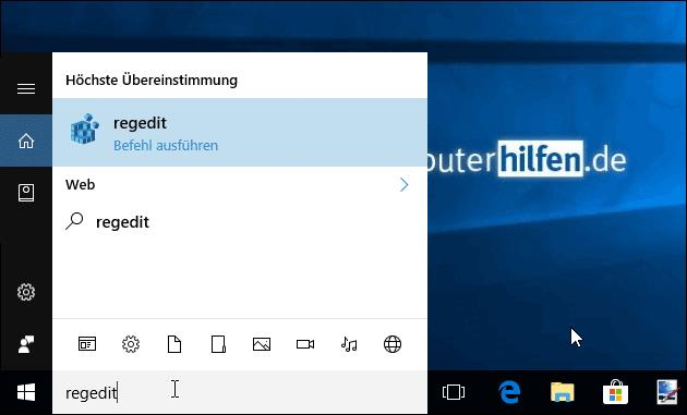 Windows 10 Registry regedit