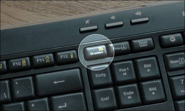 Bildschirmfoto Drucken Taste