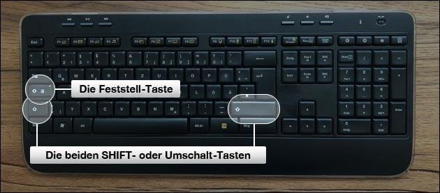 Tastatur Feststelltaste