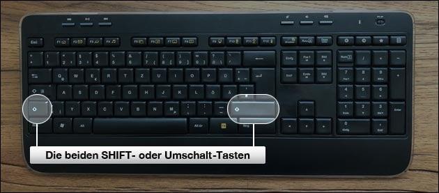 Tastatur Umschalttaste