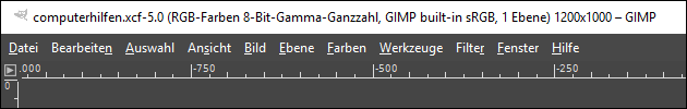 GIMP Menüleiste