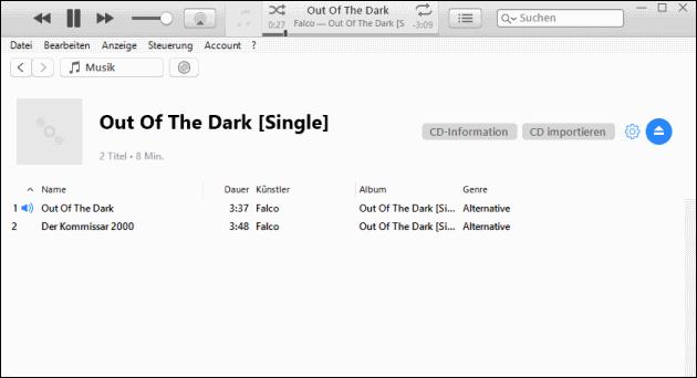 iTunes Musik CD