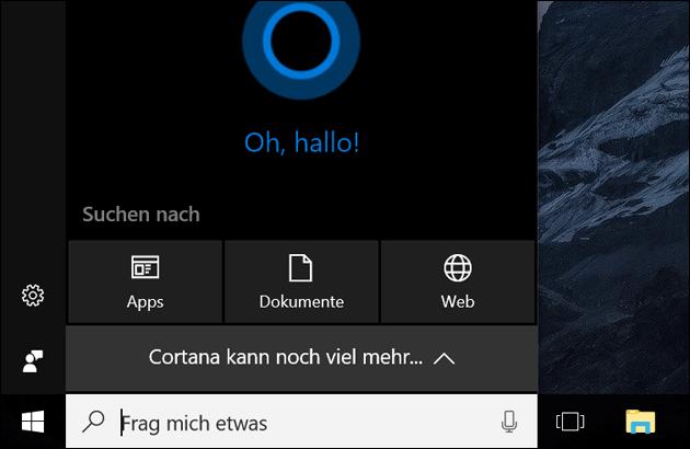 Microsoft Cortana: Sprachbefehle