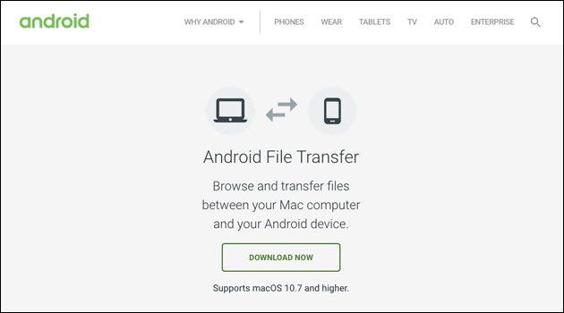 Apple Mac: Android File Transfer