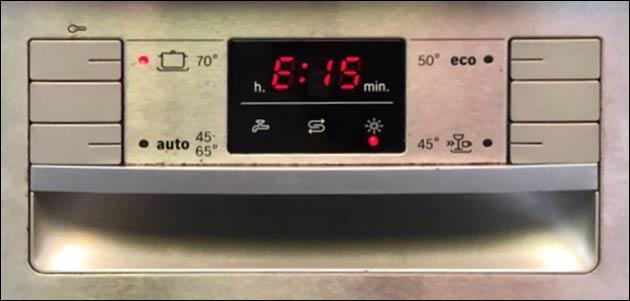 Spülmaschine E15 Fehler