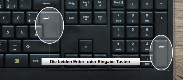 Enter-Taste