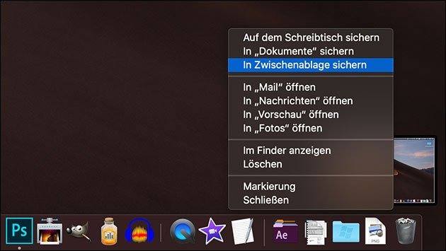 Screenshot Update In Macos 1014 Mojave So öffnet Man Die