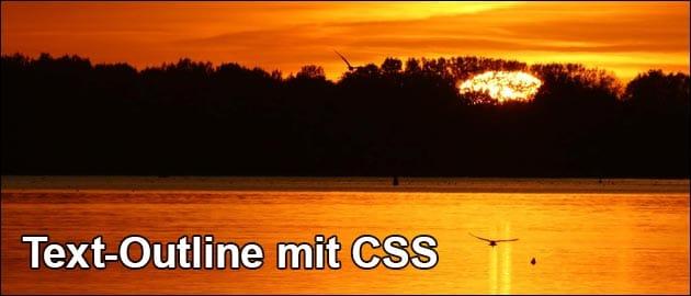 CSS Outline um Text
