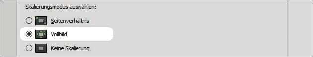 Nvidia Bildschirm Skalierung