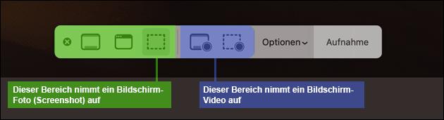 Bildschirm-Video aufnehmen Mac