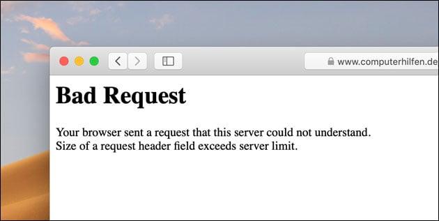 Bad Request Error