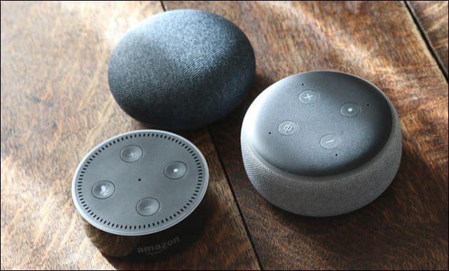 Amazon Echo + Google Home Mini