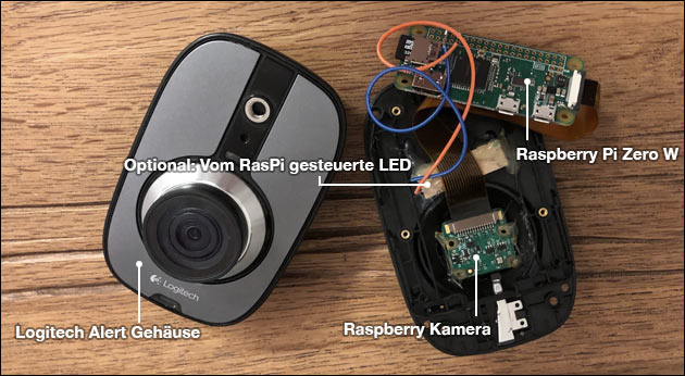 Logitech Alert Kamera Upgrade mit Raspberry Pi