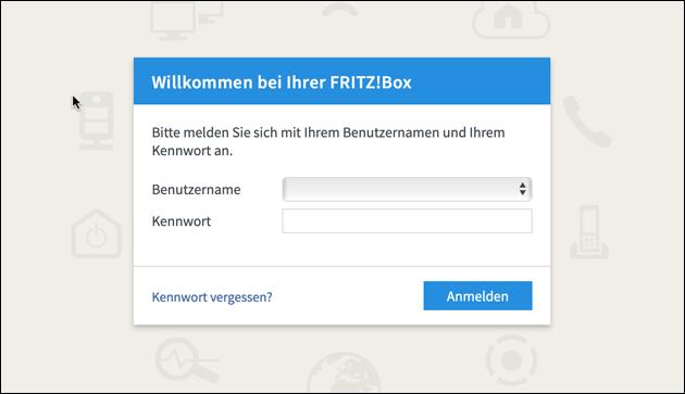 Fritzbox Passwort vergessen