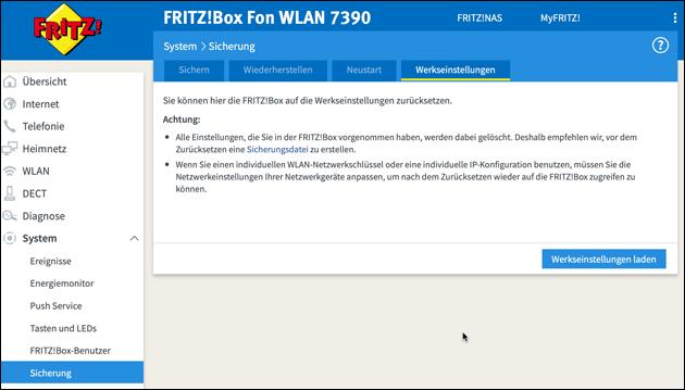 Fritzbox Reset