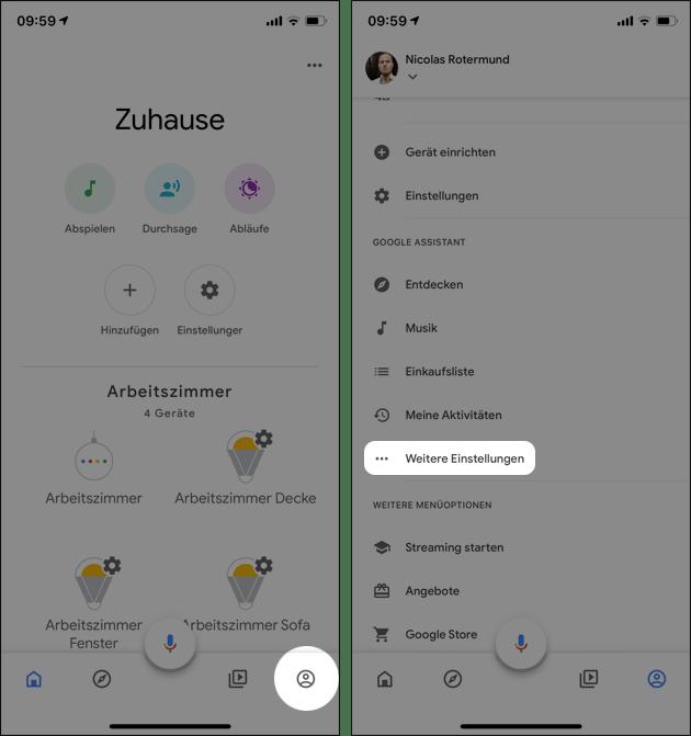 Google Home: HomeMatic Gerät zufügen