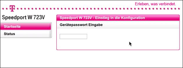 Speedport Gerätepasswort