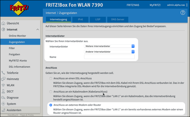 Zweite Fritzbox als Access Point