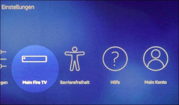 Fire TV Einstellungen