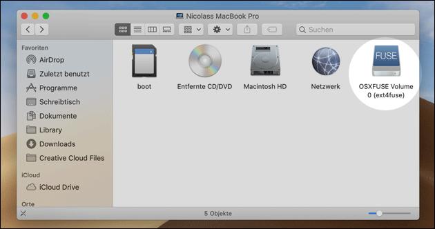 Raspberry Pi SD Karte am Mac lesen