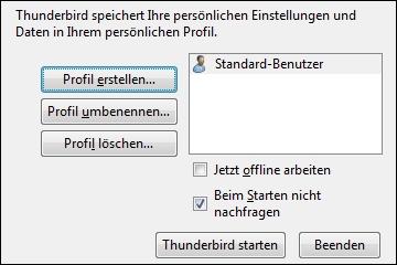 Thunderbird Profil Manager