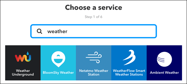 IFTTT: Weather Underground