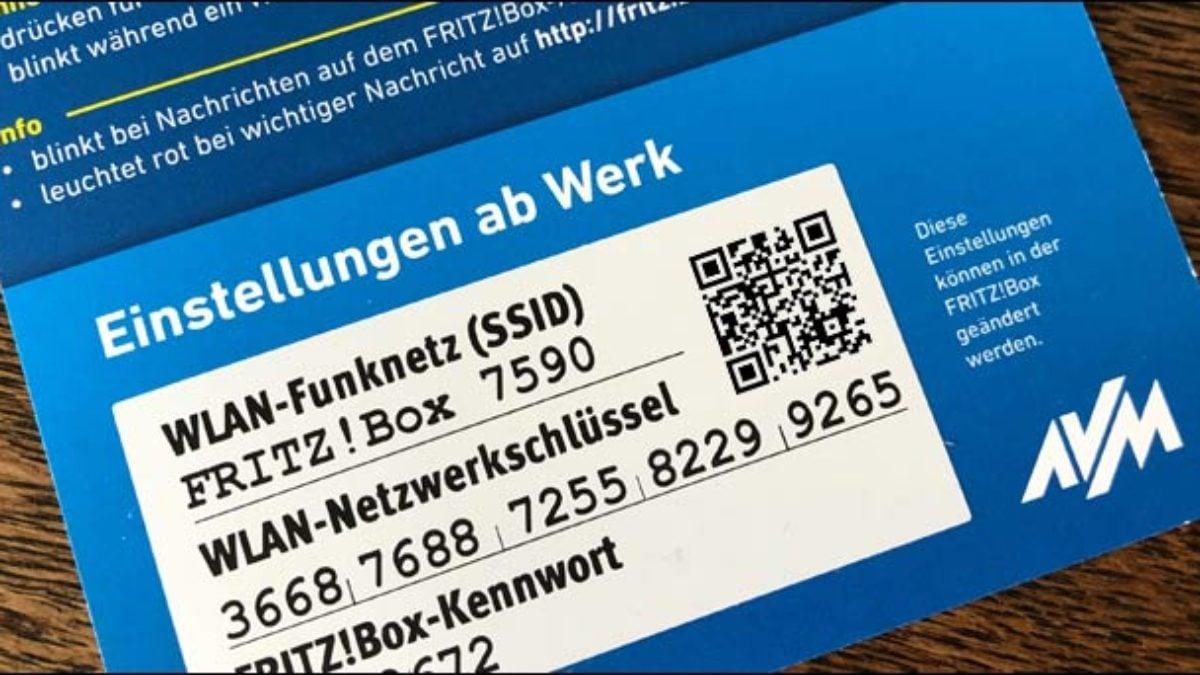 Fritzbox Reset So findet man das WLAN Passwort