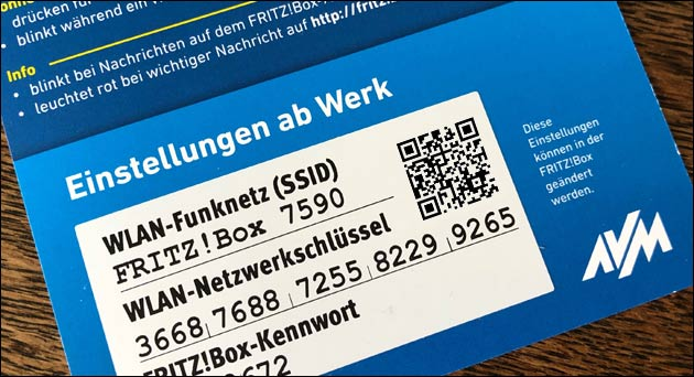 Fritzbox WLAN Passwort