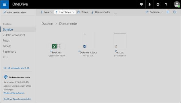 Word online Datei öffnen