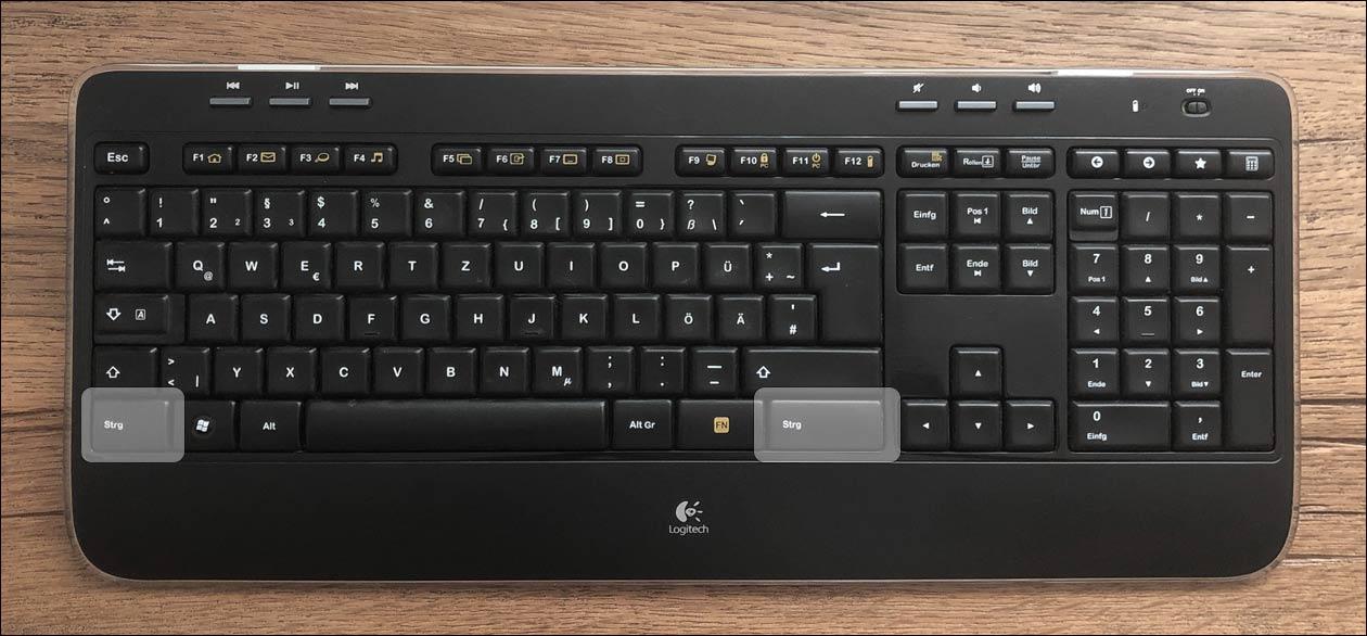 CTRL Taste Windows Tastatur