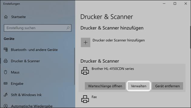 Drucker verwalten
