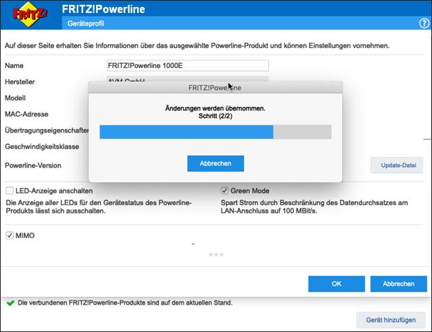 Fritz Powerline Einstellungen