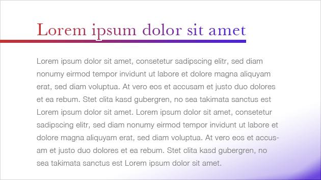 CSS Farbverlauf mit Text