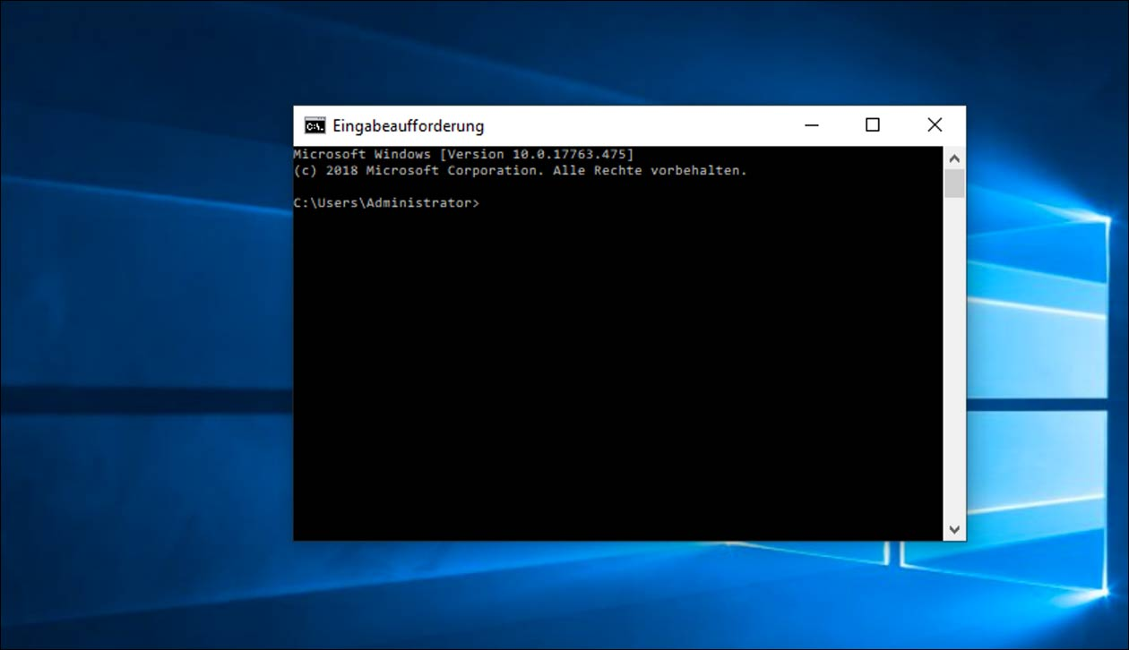 DOS Befehle in der Windows Eingabeaufforderung