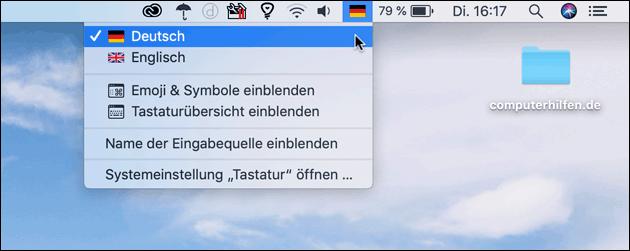 Mac Tastatur umstellen
