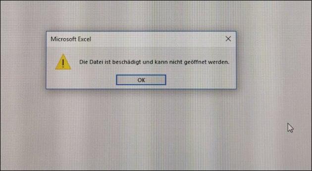 Excel: Die Datei ist beschädigt