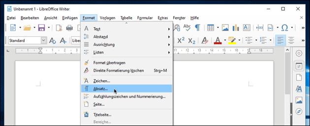 OpenOffice / LibreOffice: Zeilenabstand ändern