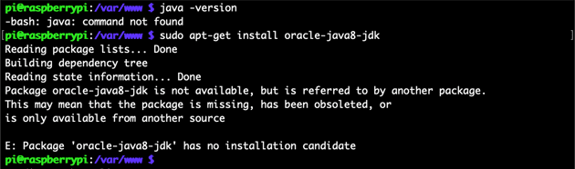 Package oracle-java8-jdk is not available
