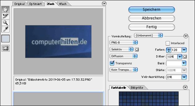 PNG Dateien bearbeiten mit Photoshop